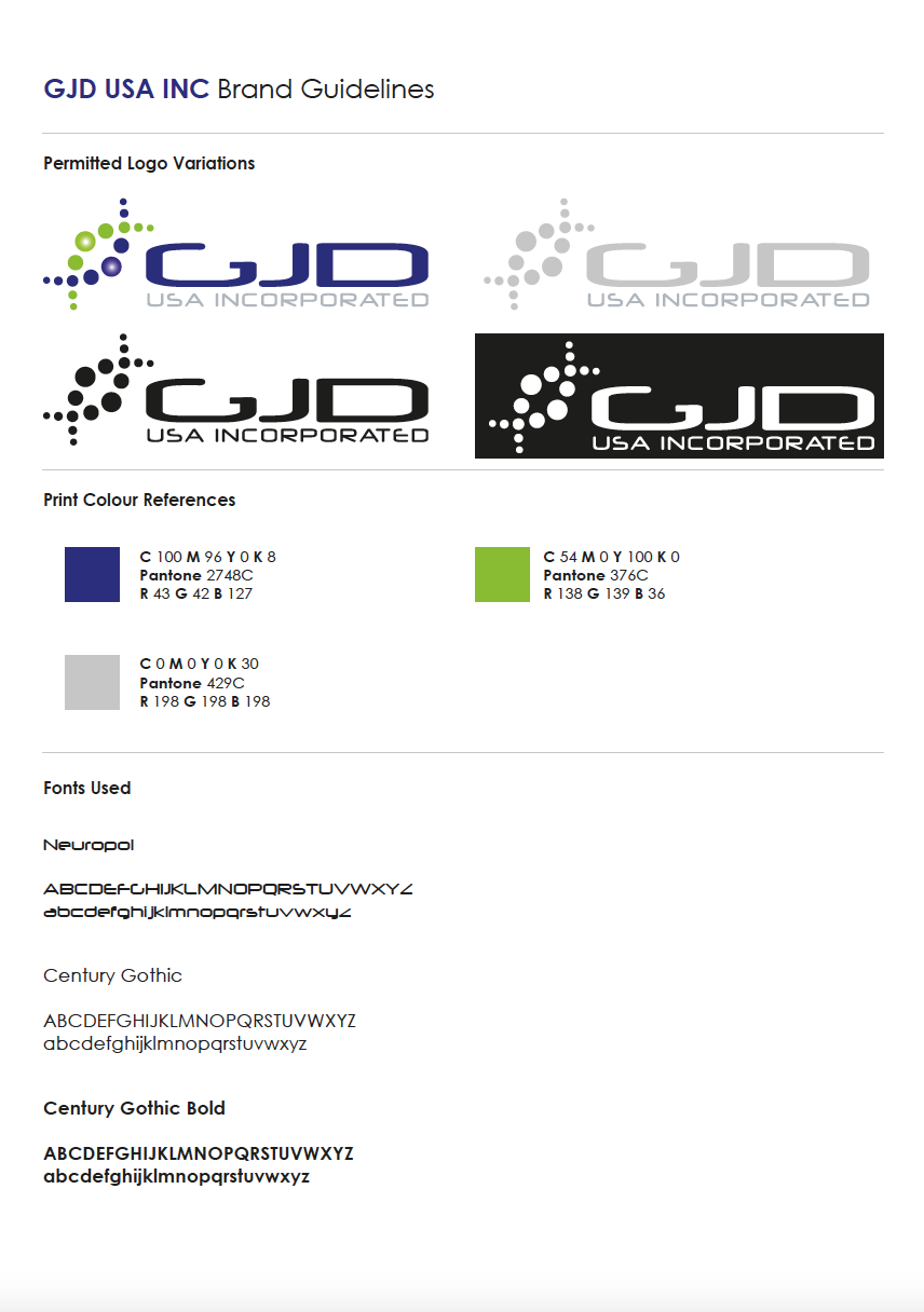 GJD USA Inc Brand Guidelines Thumbnail